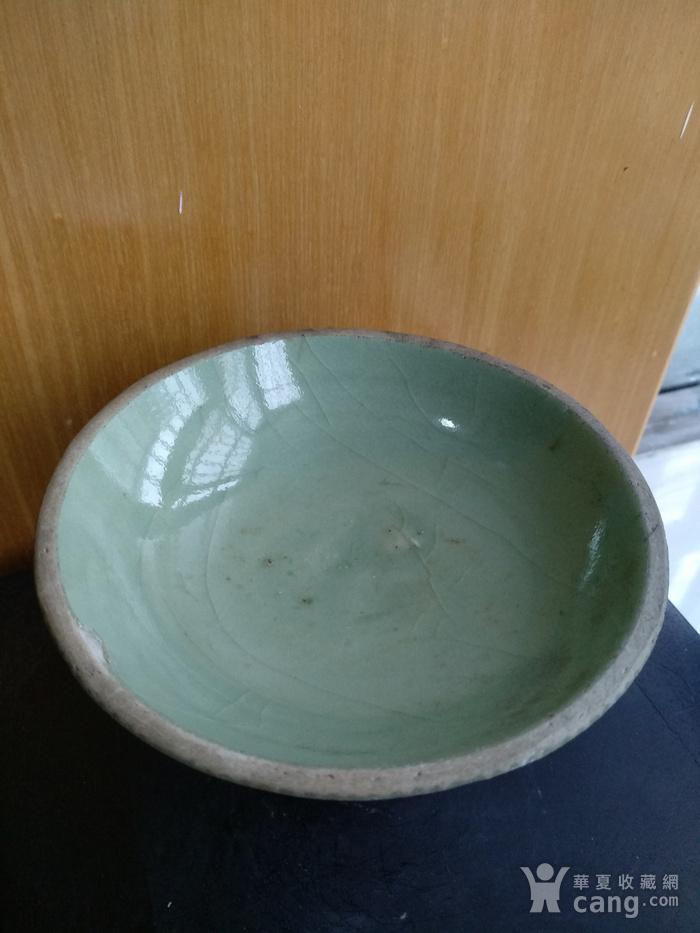 元龙泉梅子青釉高足杯 锯口 ,高7.5Cm,口径11Cm。图4