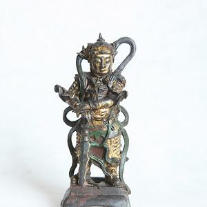 明韦陀铜像摆件