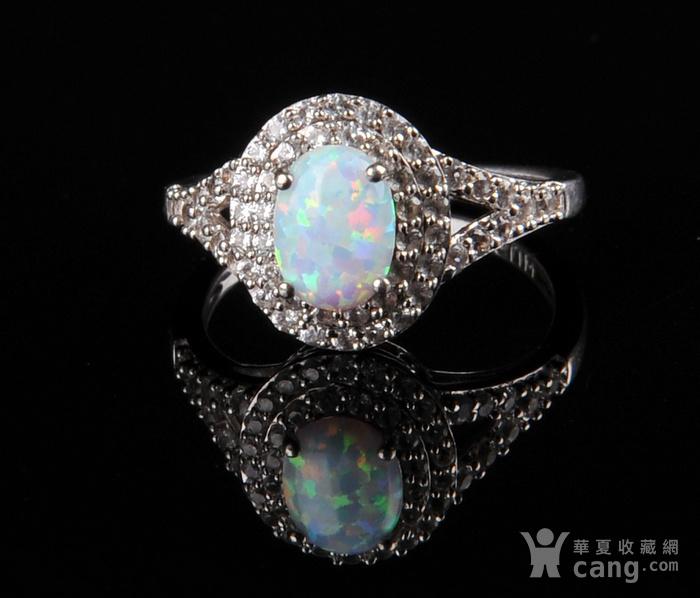欧美回流 漂亮欧珀纯银戒指与耳坠图2