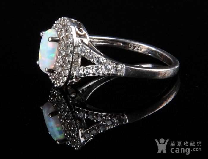 欧美回流 漂亮欧珀纯银戒指与耳坠图3