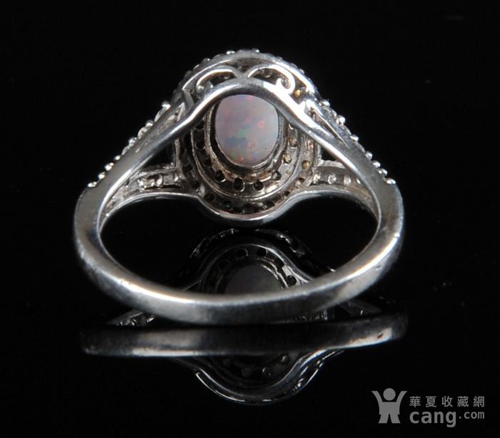 欧美回流 漂亮欧珀纯银戒指与耳坠图5