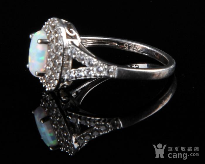 欧美回流 漂亮欧珀纯银戒指与耳坠图4
