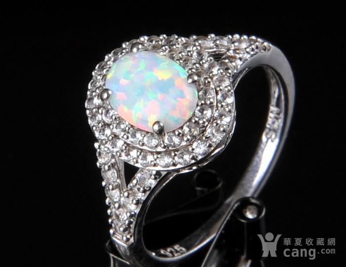欧美回流 漂亮欧珀纯银戒指与耳坠图7