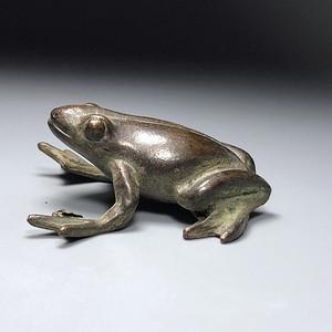 日本回流 清代铜质小青蛙一件