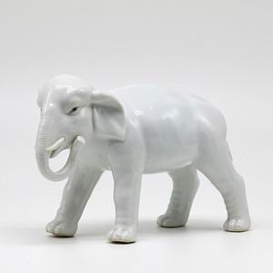 民国 白象摆件