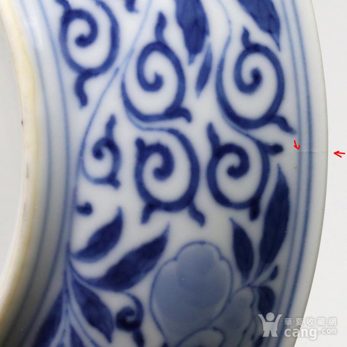 清乾隆 官窑青花缠枝山茶花纹盘一对图8