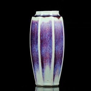 15民国窑变釉八角瓶