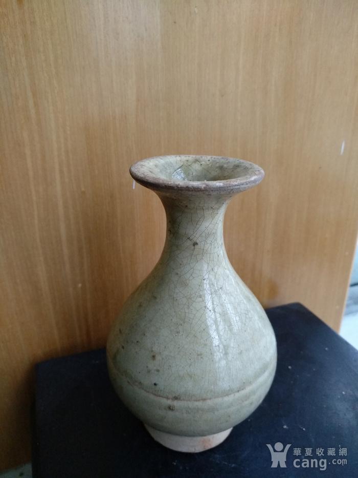元,青黄釉玉壶春瓶高12.5Cm,口径4,3Cm。图2