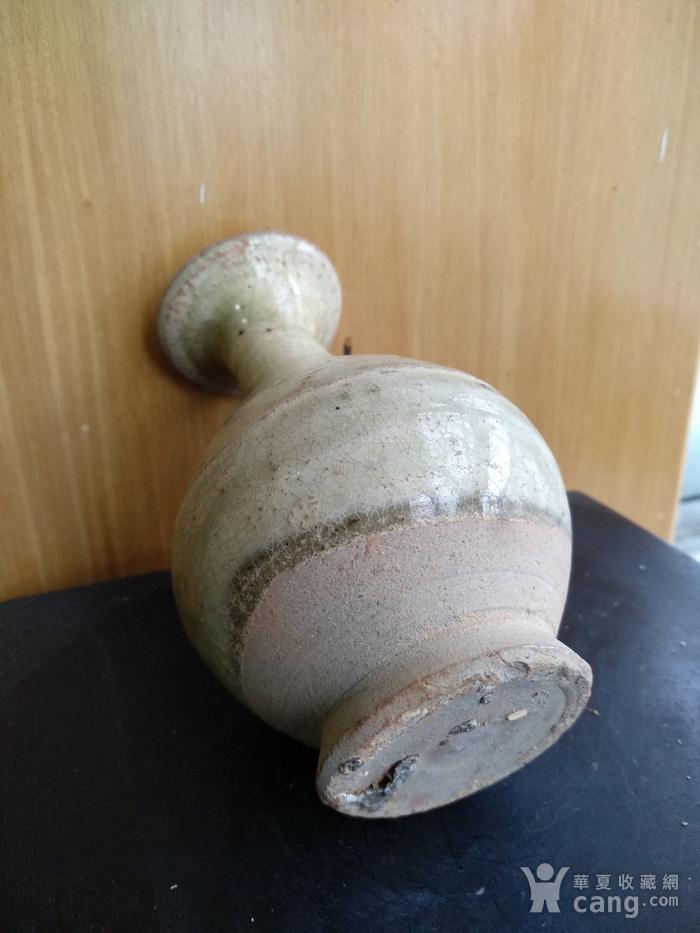 元,青黄釉玉壶春瓶高12.5Cm,口径4,3Cm。图4