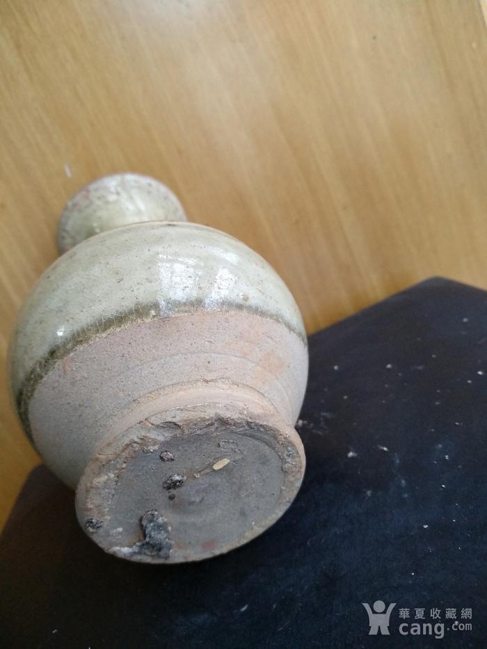 元,青黄釉玉壶春瓶高12.5Cm,口径4,3Cm。图5