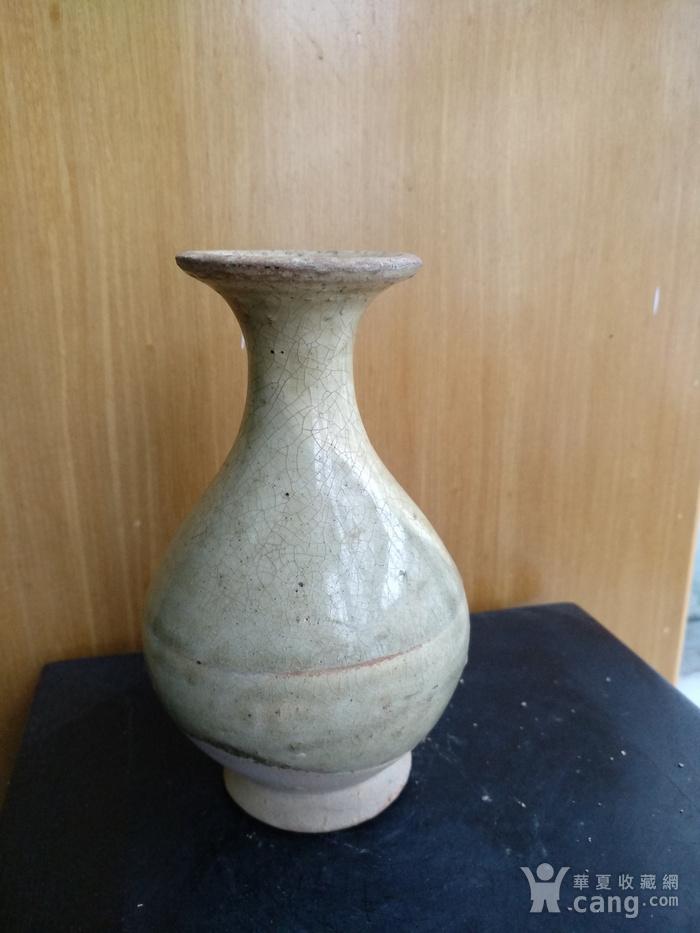 元,青黄釉玉壶春瓶高12.5Cm,口径4,3Cm。图3