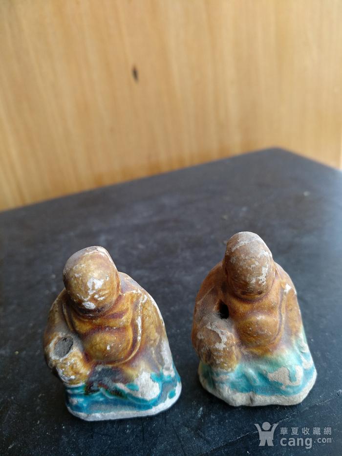 宋 元,彩釉罗汉座像,高3.7   3.3Cm图2