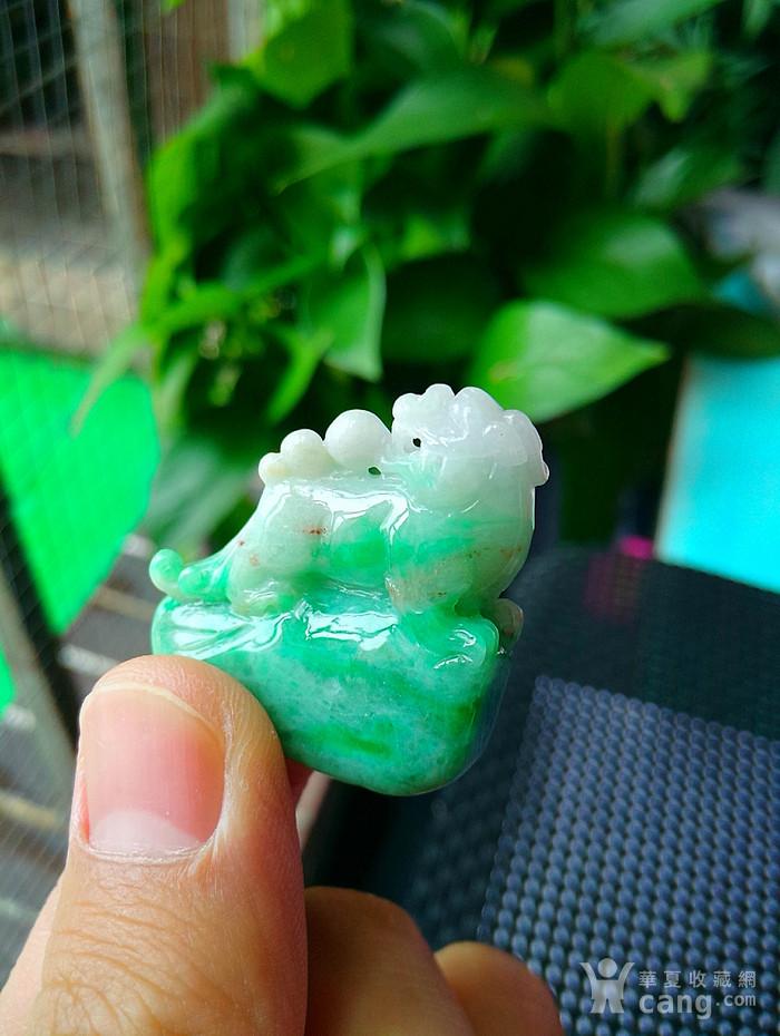冰润带阳绿貔貅吊坠图4