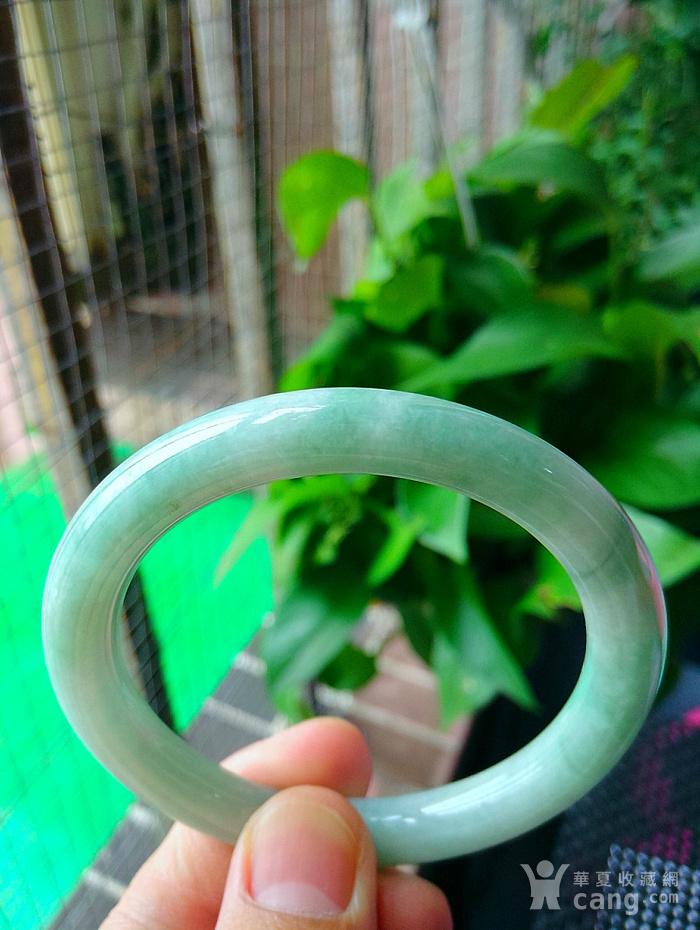 冰润满绿圆条手镯图2