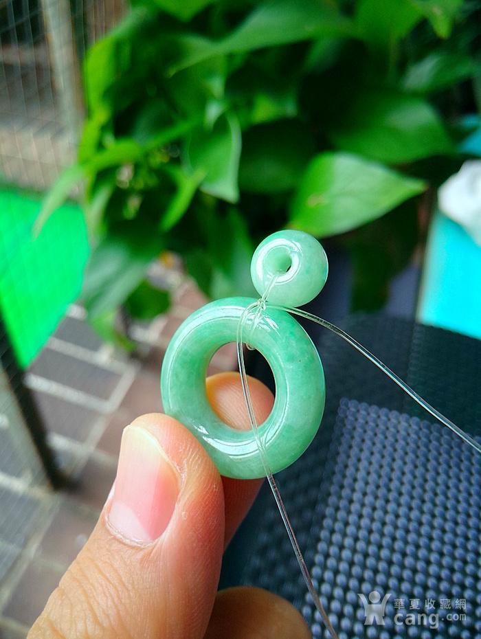 冰润满绿母子平安扣吊坠图7