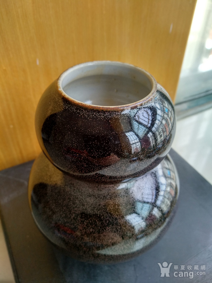 欧州回流。茶叶沫釉葫芦瓶,瓶,高:12,5Cm。图2