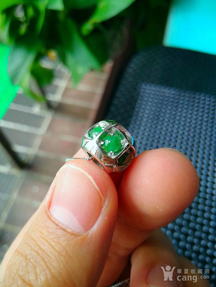 925银冰润满绿转运珠吊坠图6