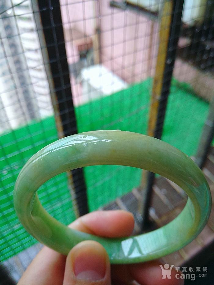 冰润满绿宽边手镯图3