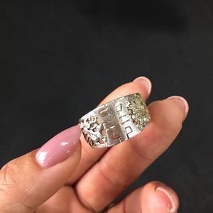 8060出口创汇900银双龙开口戒指