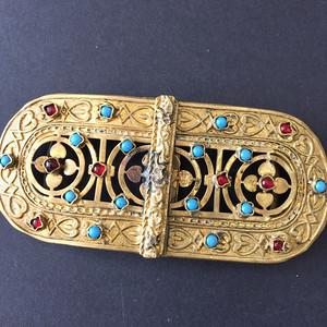 8040欧洲回流鎏金嵌宝带扣