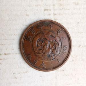 日本明治十七年一钱铜币