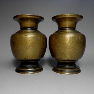 民国铜花瓶一对!