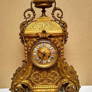 十九世纪法国造镀金宫廷大座钟  欧洲直邮