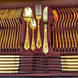 德国制造著名镀金餐具一套 欧洲直邮