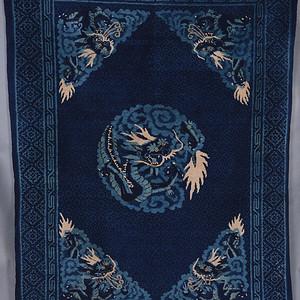 清 宁夏古董龙纹 羊毛毯