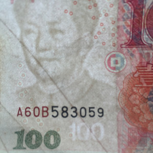 第五版  百元面额 错版人民币