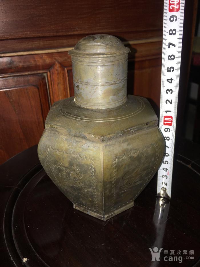 六边型锡制小茶叶罐图1