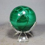 清代孔雀石圆球