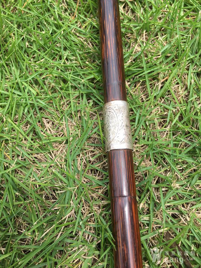 竹包银文明杖图4