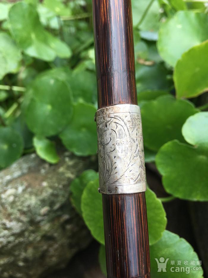 竹包银文明杖图10