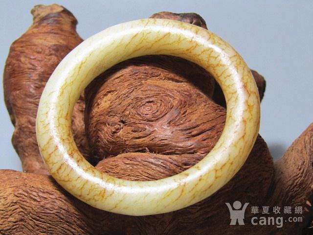 明 和田玉白玉 袈裟环 包浆熟润 沁色自然图2