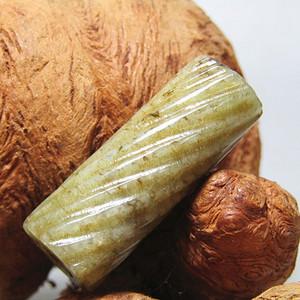 明 和田玉 绳纹 勒子包浆熟润醇厚