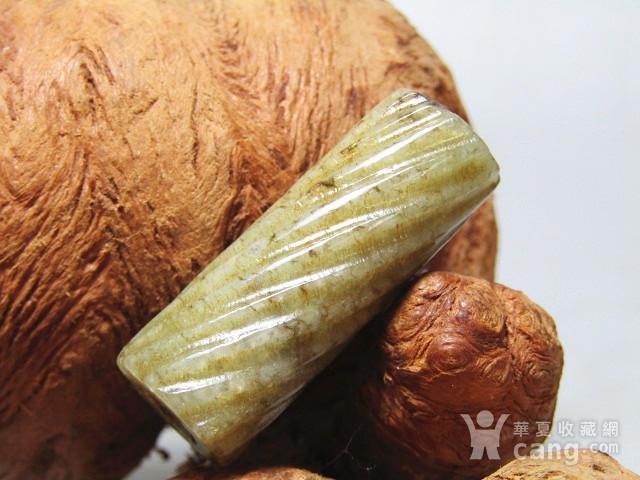明 和田玉 绳纹 勒子包浆熟润醇厚图1