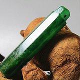 重器 清冰种满绿翡翠多棱 翎管 风化清晰 开门到代