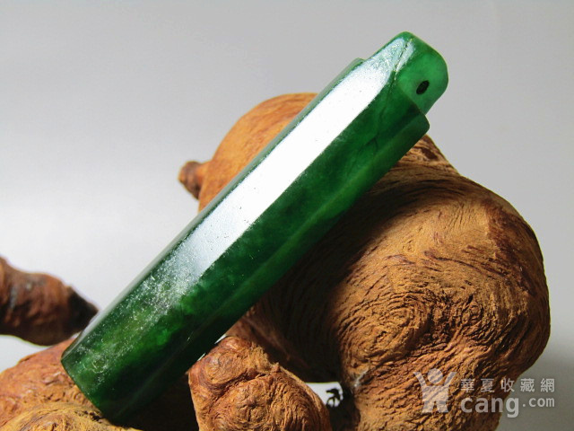 重器 清冰种满绿翡翠多棱 翎管 风化清晰 开门到代图1