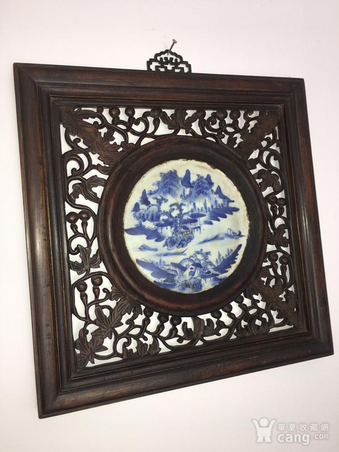 老瓷盘配的挂件图1