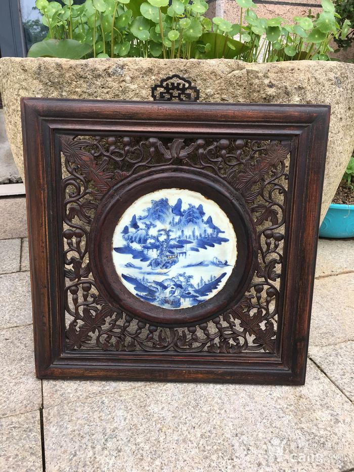 老瓷盘配的挂件图2