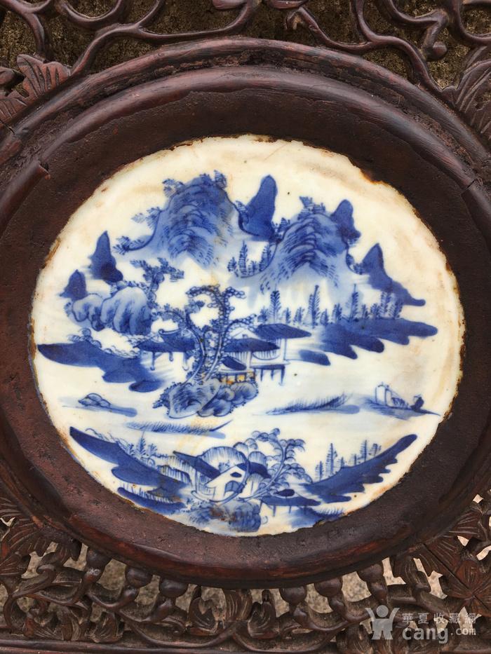 老瓷盘配的挂件图3