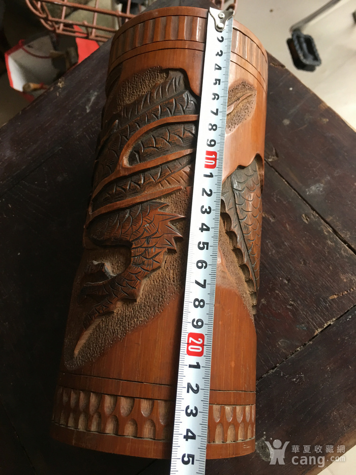 竹雕过墙龙香筒图8