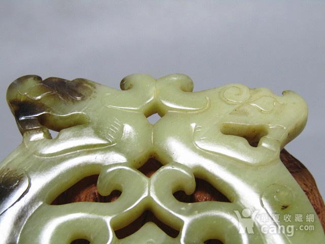 明 和田籽玉 双龙佩 双面工艺 古朴 包浆厚重图5