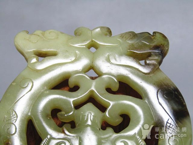 明 和田籽玉 双龙佩 双面工艺 古朴 包浆厚重图9