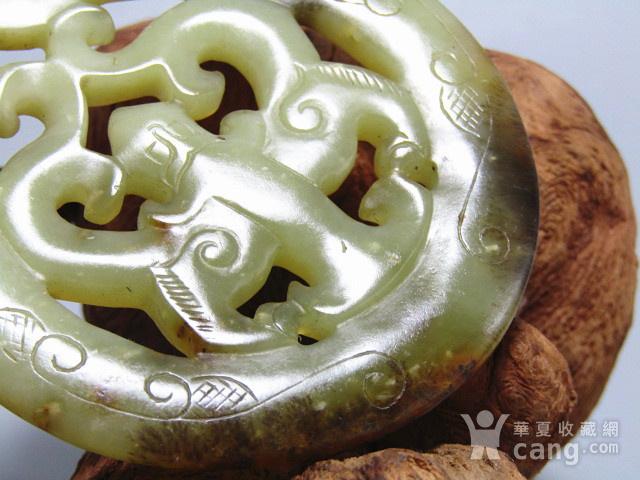 明 和田籽玉 双龙佩 双面工艺 古朴 包浆厚重图12