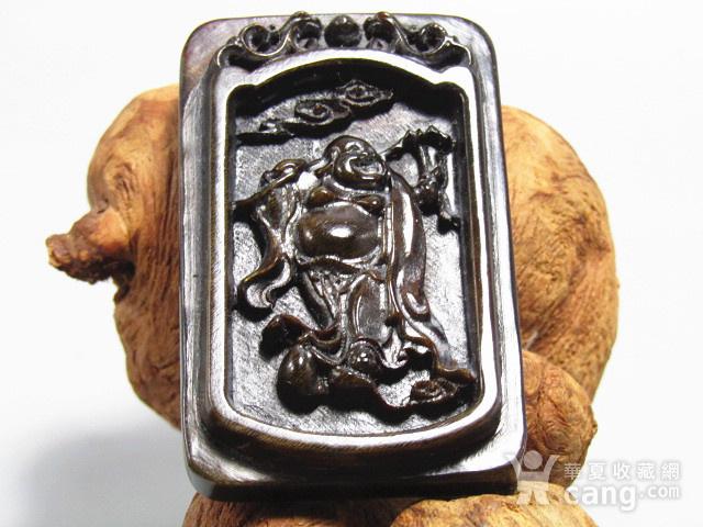 亚洲黑干料 弥勒佛 牌 特征明显 手工雕刻图4