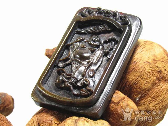 亚洲黑干料 弥勒佛 牌 特征明显 手工雕刻图6