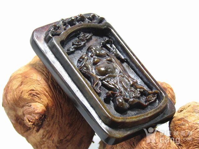 亚洲黑干料 弥勒佛 牌 特征明显 手工雕刻图7