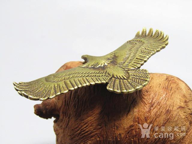 回流 老铜打造 雄鹰展翅 包浆厚重图3